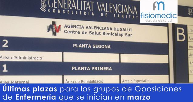 Últimas plazas para el grupo de oposiciones de Enfermería