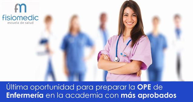 Últimas plazas curso preparación de oposiciones de enfermería