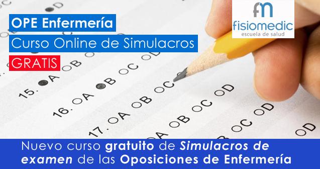 Curso gratuito de simulacros Online de las oposiciones de Enfermería de la Comunidad Valenciana