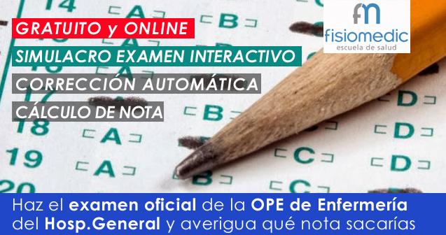 Accede gratis al simulacro online del examen oficial del Hospital General