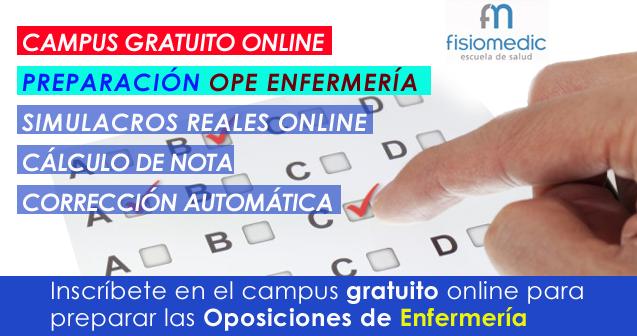 Curso gratuito Online de la OPE de Auxiliar de Enfermería de la comunidad Valenciana