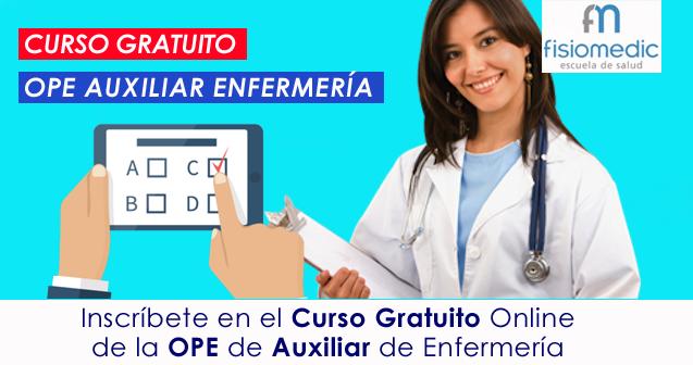 Curso gratuito Auxiliares Enfermería