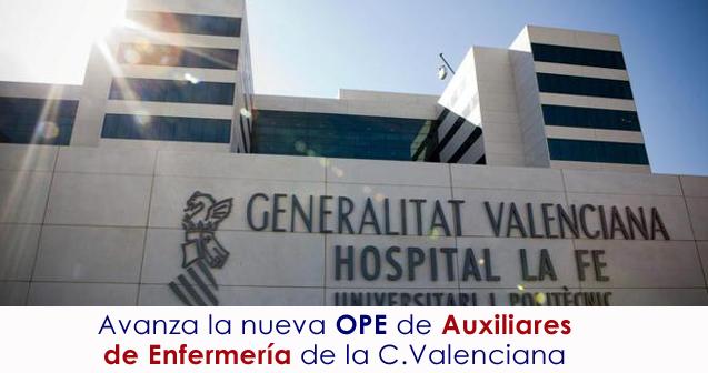 Novedades OPE Auxiliares Enfermeria
