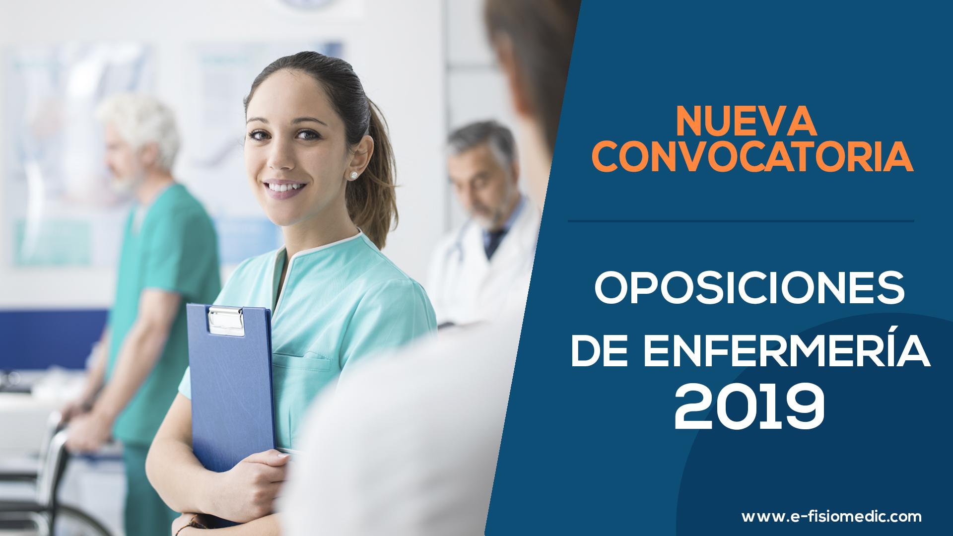 Nueva Convocatoria opesiciones de enfermería 2019