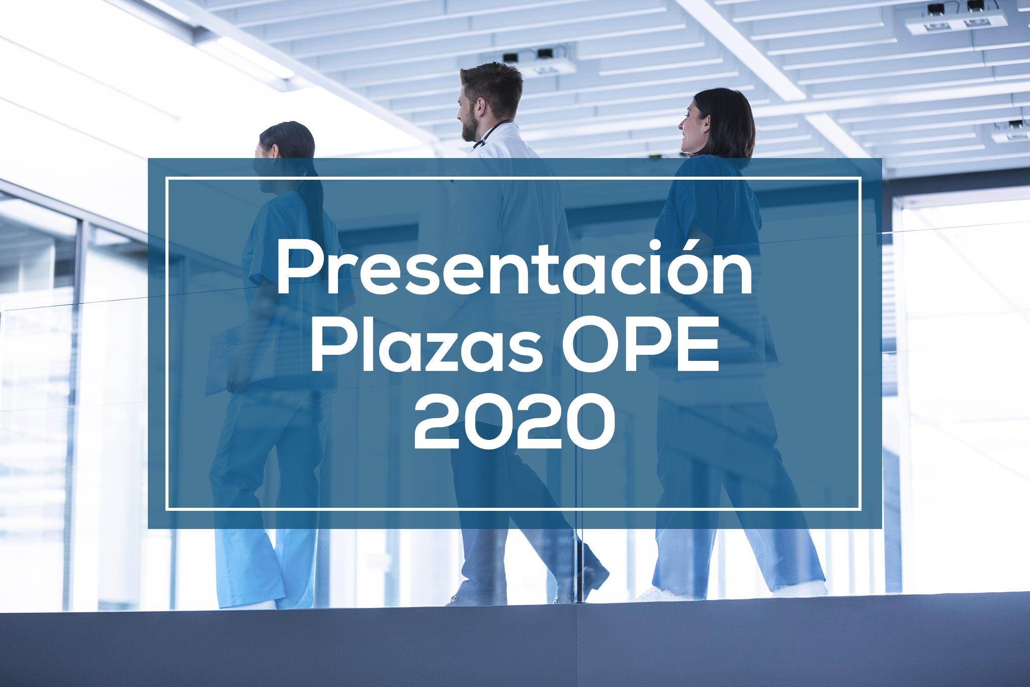 Presentación plazas OPE 2020