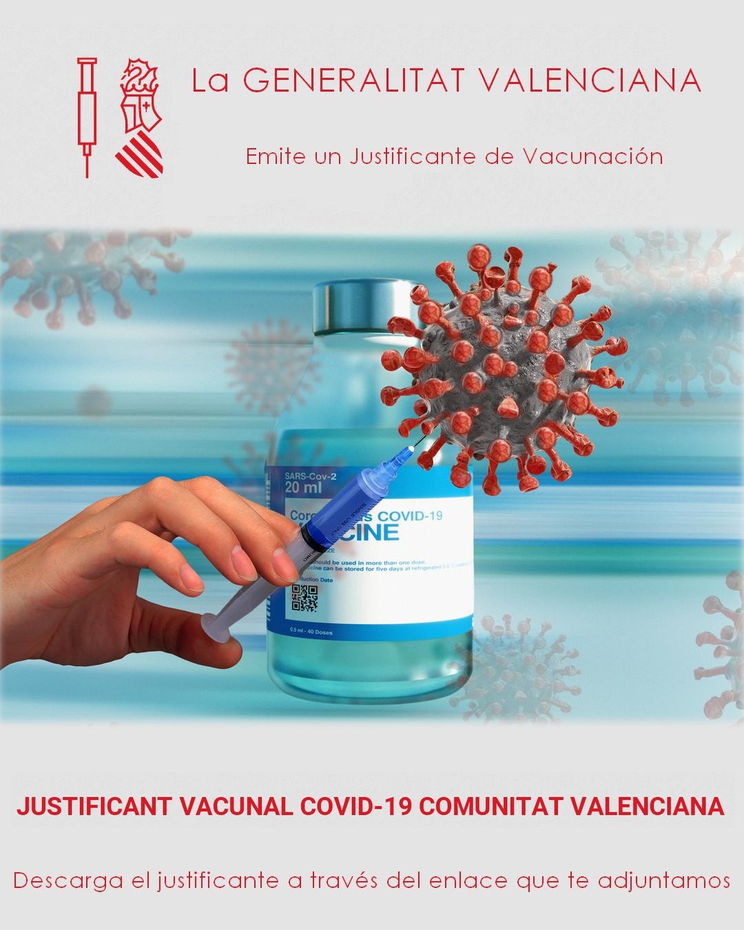 Justificante Vacunal COVID-19 en la Comunitat Valenciana